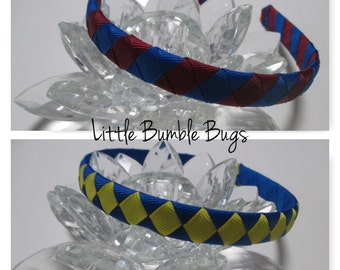 1/2 Woven Headband Everyday and School Wear - 2 Colours - Blues