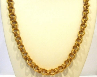 Vintage Signed Chunky Neck Chain