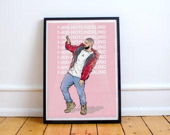 Drake - 'Hotline bling' ( Print / Poster )