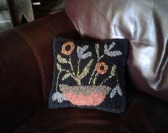 Hooked Wool Flower Mat Pattern