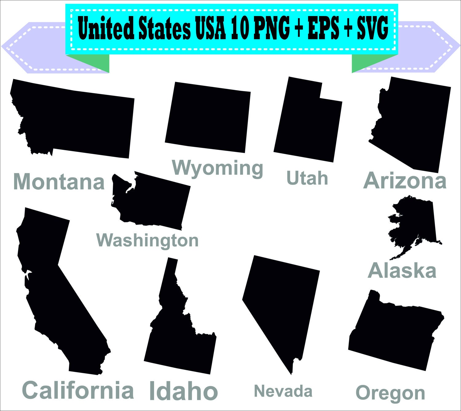 America United States USA State Map California Silhouette Vector - Usa map eps