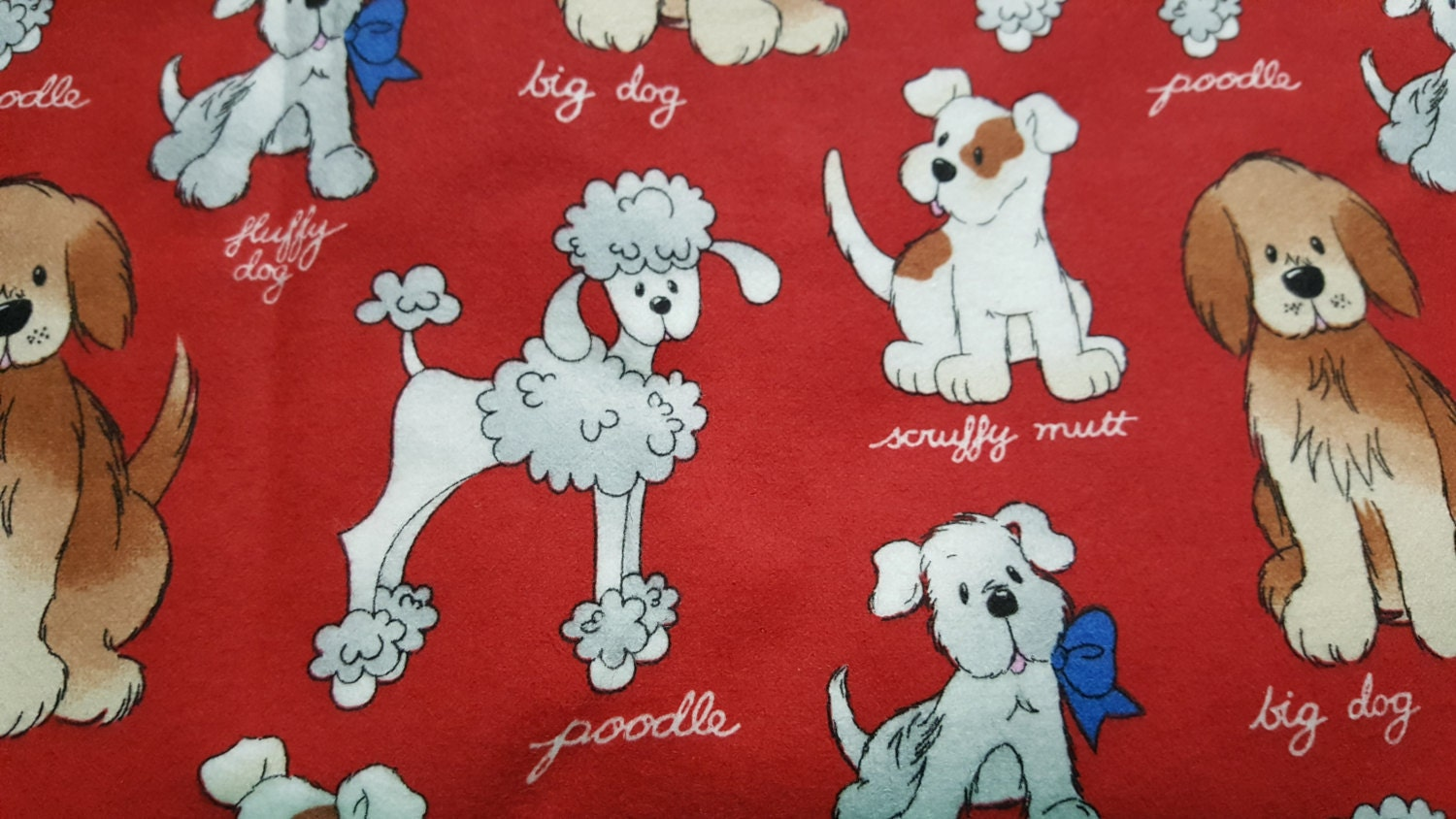 Dog Size Snuggle Flannel Print Patty Reed Designs For