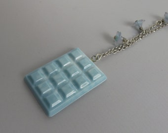 Resin necklace chocolate # 2