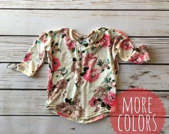 Floral Dolman Top // Rose Dolman // baby dolman top // toddler dolman top // gift idea // Girls top // girls shirt // girl dolman