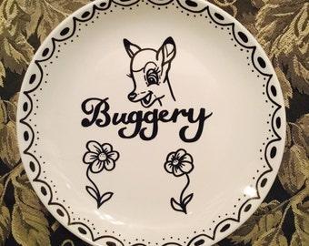 Buggery - decorative plate