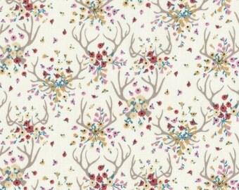 Antlers - 10.50 Yard - Cream Deer Antler Fabric - Enchanted by Dear Stella Antlers in Cream - Dear Stella 431