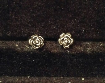 Mini Rose Stud Earrings