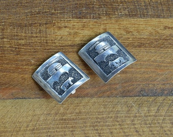 Unique Sterling Silver Tommy Singer Clip Earrings