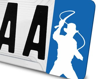 Indiana Jones sticker for license plates
