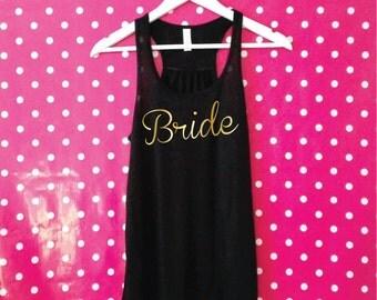 Bride Tank Top.  Bridal Shower. Bachelorette Tank. Hen Party Tank. Bachelorette Party Top. Bride Shirt. Bride Vest.