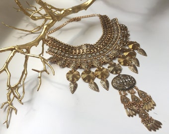 Gold statement piece