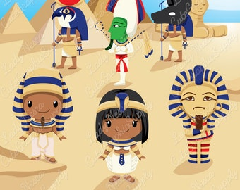 Egypt clipart, mythology, Egypt, Egyptian God, sarcophagus clipart, Osiris, Anubis, Ra, Cleopatra, Pharaoh, pyramid, sphynx -LN0148-