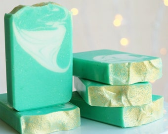SALE!!! Lucky Bamboo handcrafted Vegan soap with Exfoliating Bamboo Extract Powder
