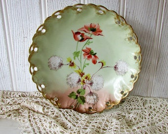 Vintage French Ribbon Edge Bowl