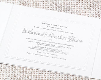 Perle Invitation - Foiled and Embossed