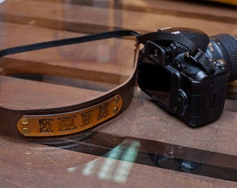 Camera strap leather photographer gift camera accessories strap for camera nikon leather strap canon monogrammed gift custom strap sony