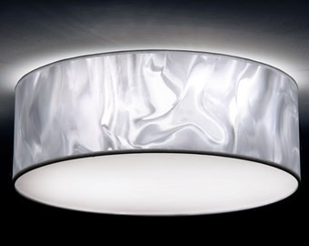 Ceiling lamp D. 50 cm, 3D-Folie white