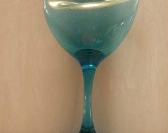 Let's Get Smashed Slumped Wine Glass
