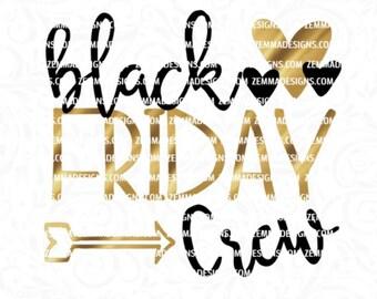 Black Friday svg - Black friday crew svg - fall svg files - shopping svg - Thanksgiving svg - Zemma Designs