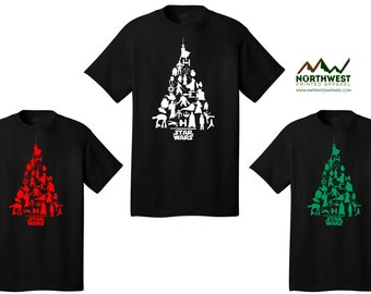 Star Wars Christmas Tree T-Shirt