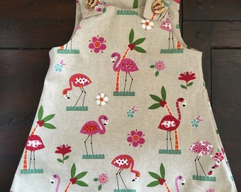 Flamingo Print Shift Dress