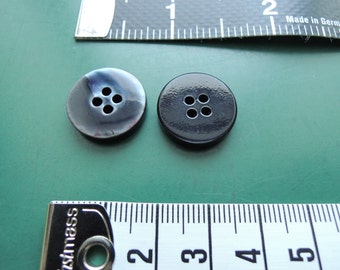 30 pieces | grey/blue | shimmer | Button | 4-hole | 1,7 cm