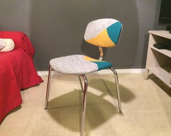 Vintage reupholstered Strafor Chair - Unique piece - 80's