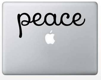 Peace Decal - Glitter Decal - Peace Sticker - Laptop Decal - Phone Decal - Car Decal - Tumbler Decal