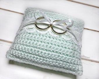 Wedding Ring Cushion Alternative - Beach Ring Bearer Pillow - Boho Wedding Ideas - Vintage Ring