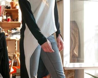 Asymmetrical sweater model Kaito