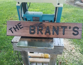 Custom Hand Routed Signs