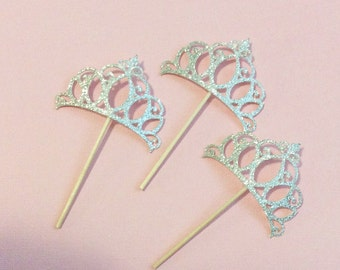 Princess cupcake toppers-Tiara cupcake toppers-Disney princess inspired tiaras-Tiara cupcakes-Sofia the first-princess and the frog-frozen