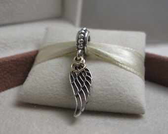 PANDORA Sterling Silver & Gold Love and Guidance Angel Wing Pandora code  791389