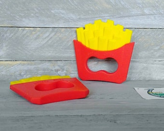 French fry baby teether pendant * baby shower gift * french fries teether * baby teeth * cpsia compliant