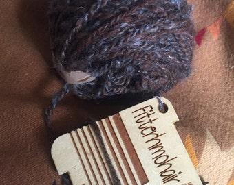 92 yd mohair llama handspun yarn
