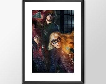 Arrow - Tv Series - Digitally Painted Tribute  - PRINTED - BUY 2 Get 1 FREE
