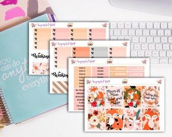 Spring Foxy Planner Sticker Kit