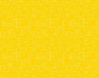 Fat Quarter Yellow Large Hash Tag By Riley Blake Fabric, Social Media Tag Pattern