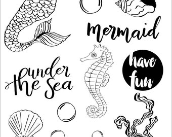 Clear stamps _ mermaid _ 032