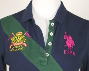 U.S. Polo Assn. Blue Long Sleeve Women's Shirt Size Large