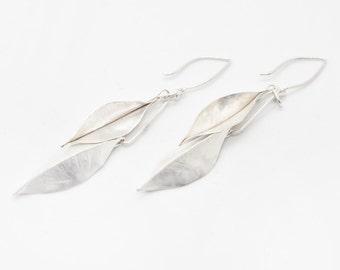 Double Leaf Design - Sterling Silver