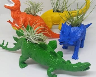Create your Rawr Planter/ Design your Dino/ Plantasaurus/ Planter/ Dino Garden/ Air plant / Succulent/ Upcycled