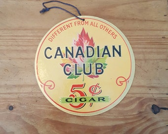 Vintage Canadian Club Cigar advertising from the 1940's.