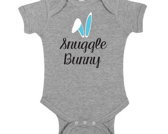 Snuggle Bunny Easter Outfit, Cute Easter Shirt