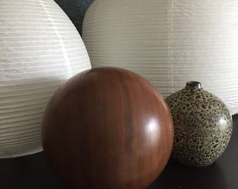 Mid Century Modern Teak Orb Sculpture