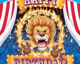 Ringling Brothers Circus ''Happy Birthday Big Top'' Luncheon Paper Napkins 16ct