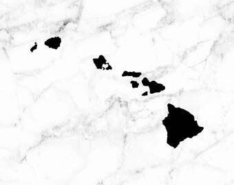 Hawaii decal, Island sticker, State decals, Island gifts, I heart Hawaii decal