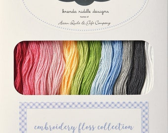 Brenda Riddle Guernsey Embroidery Floss Collection | 100% cotton | Hand Quilting and Stitching | 12 Skeins