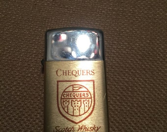 Vintage Park Lighter Chequers Scotch Whiskey Advertising