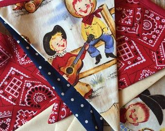 adorable li'l cowpoke bunting/ cowboy banner